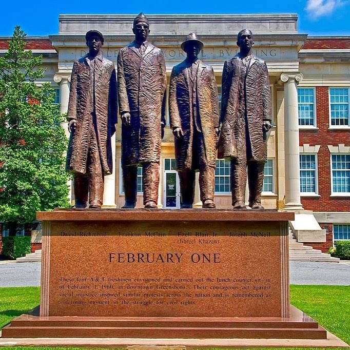 On February 1, 1960 in Greensboro, North Carolina, four A&T ... on map of raleigh nc, map of charlotte nc, map of north carolina, map of greenville nc, map of asheville nc, map of moyock nc, map of hog island nc, map of memphis tn, map of griffin nc, map of ogden nc, map of salemburg nc, map of orange co nc, map of biltmore forest nc, map of saxapahaw nc, map of clarksville nc, map of atlanta, map of charlottesville nc, map of columbus ga, map of bunnlevel nc, map of ferguson nc,