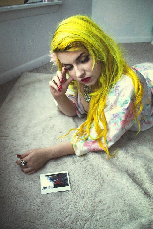 Try MANIC PANIC Sunshine for yellow tresses! (sounds ...