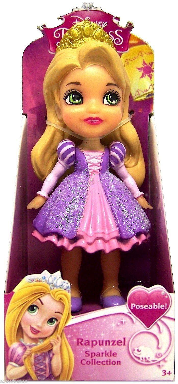 disney princess poseable rapunzel sparkle collection mini toddler doll 3 toys. Black Bedroom Furniture Sets. Home Design Ideas
