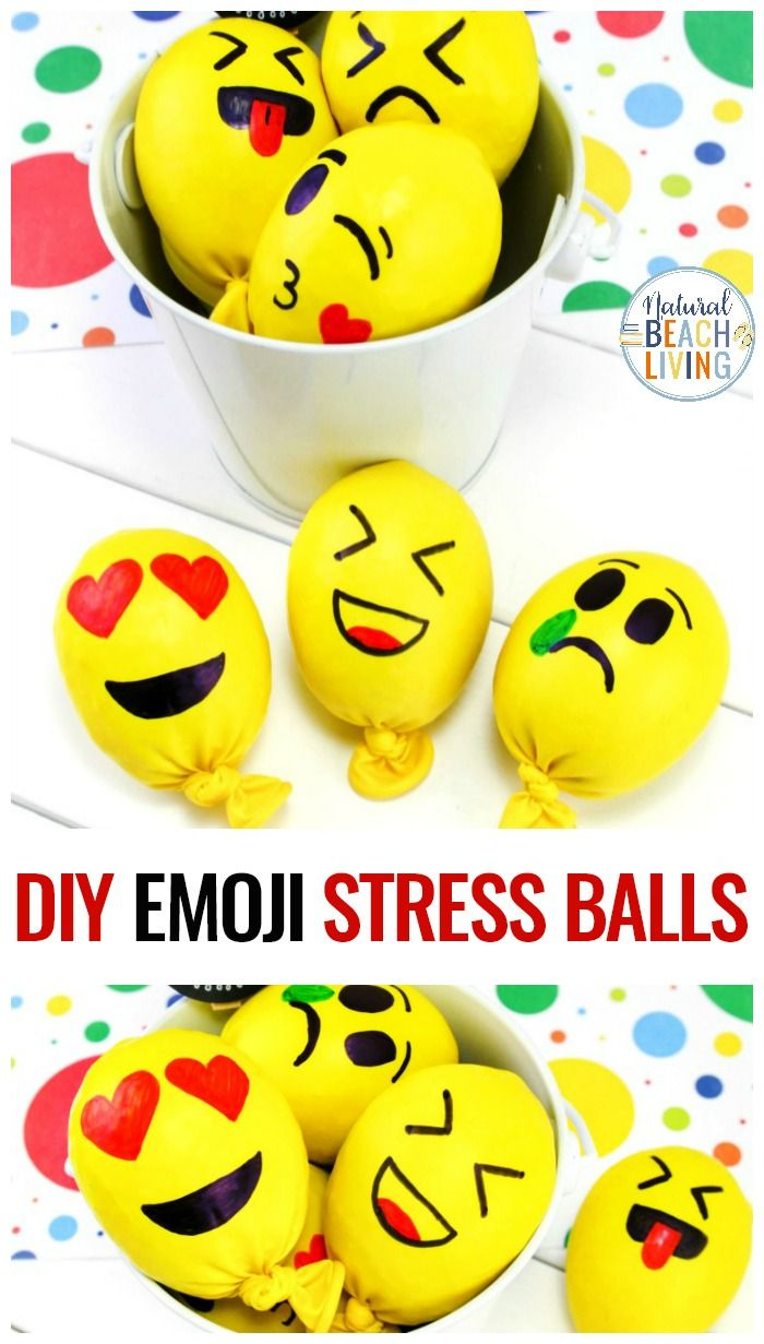 Photo of Emoji Stress Balls – How to Make a Stress Ball for Kids and Adults – Natural Beach Living