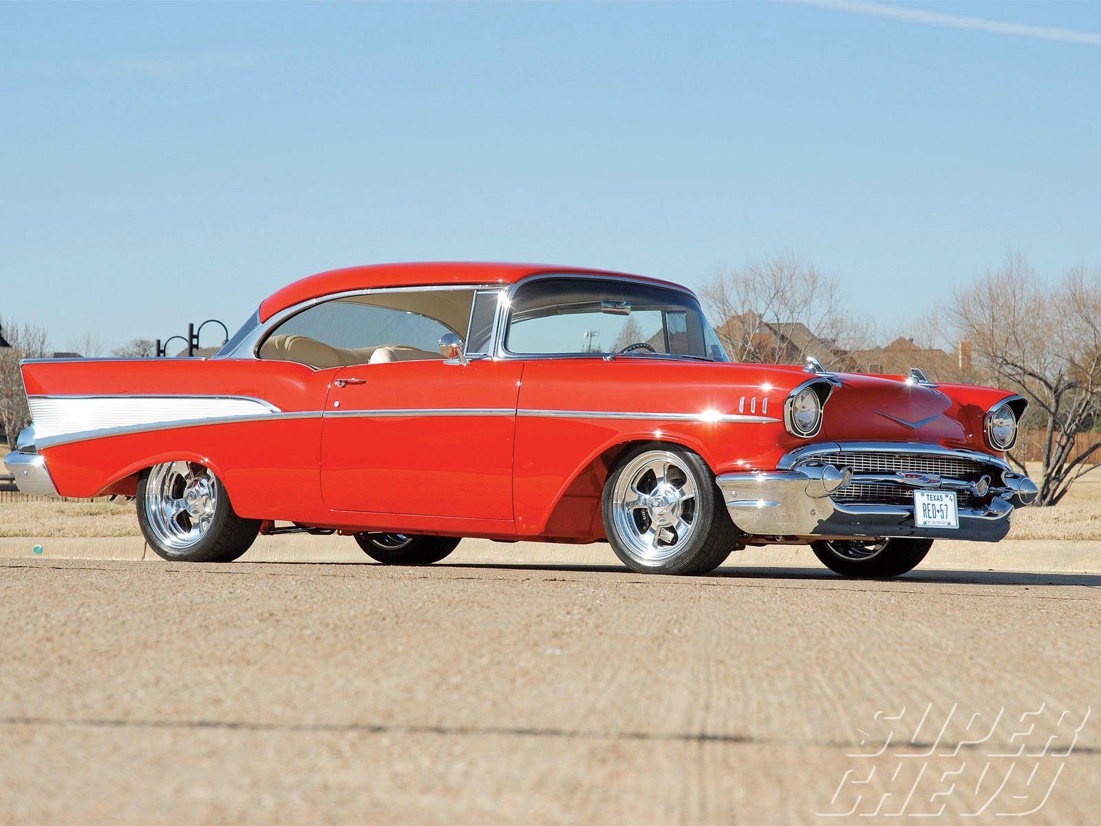 The Classic 1957 Chevy Bel Air. I wonder if it's original designer knew that thi…
