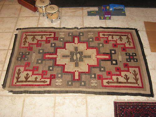 Navajo Native American Indian Rug Blanket Weaving Antique Jb Moore Ebay