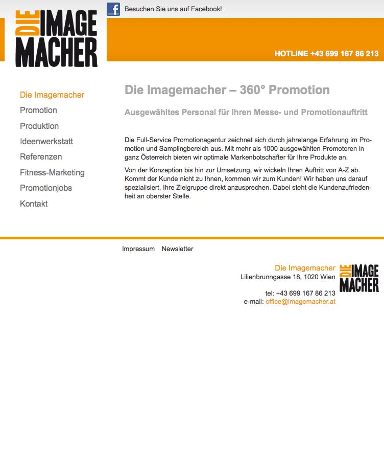"""Für """"die imagemacher"""" konnten wir die neue Webseite umsetzen - im responsive Webdesign.  http://www.dieimagemacher.at"""