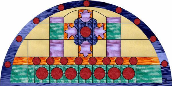 36 Arch D Decorative Window Film