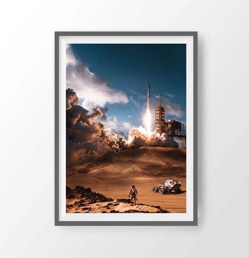 Loneliness Of The Planet Nasa Art Mars Nasa Spacex Nasa Wall Art Nasa Prints Moon Art