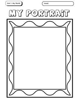 This 26 Page Worksheet Packet Has Students Complete A Variety Of All About Picture Frame Template Picture Frames Printable Frames