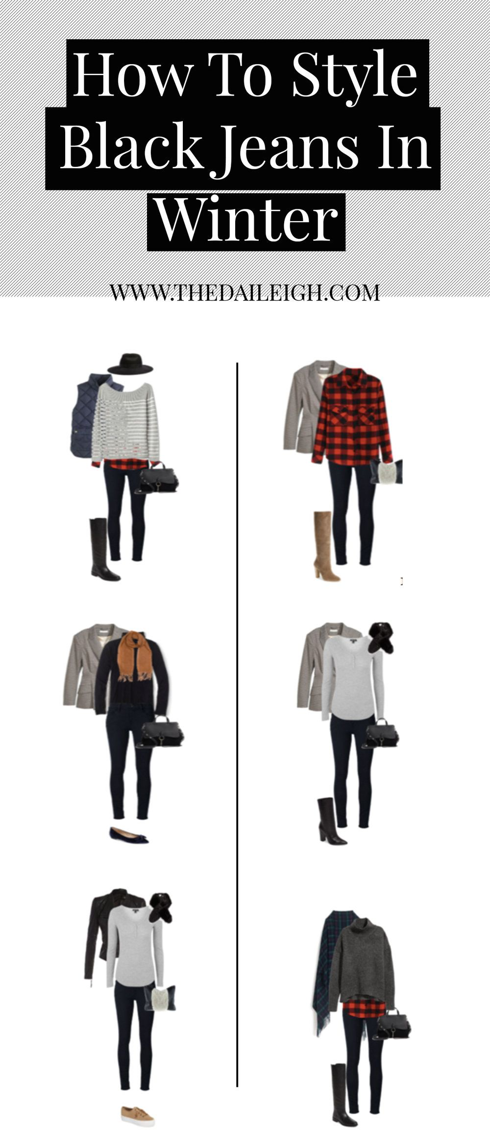 How To Style Black Jeans In Winter