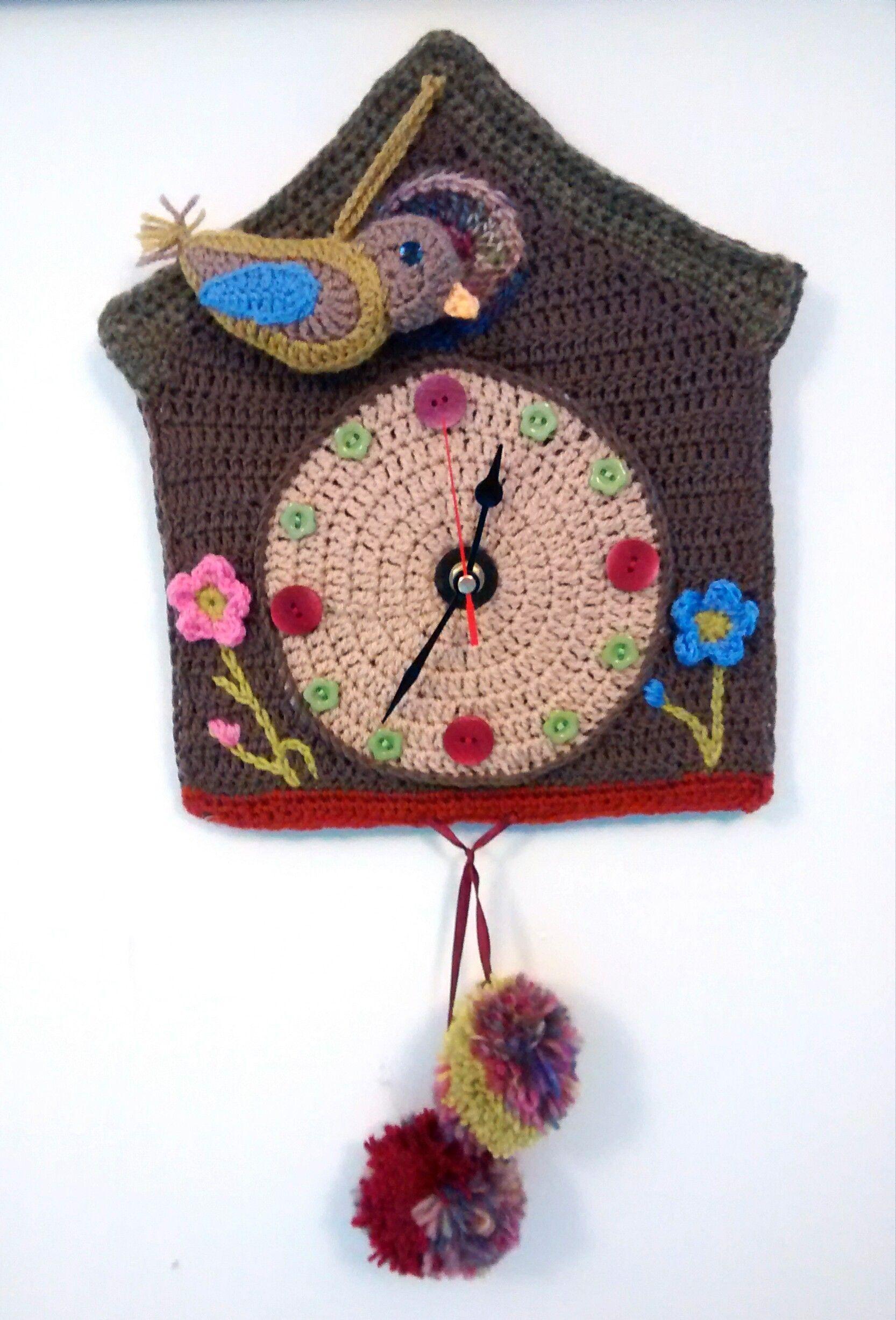 Photo of Crochet Cuckoo Clock – sehr zufrieden mit dem Ergebnis. Mein eigenes Design … …