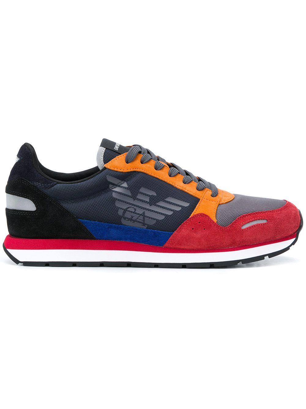 Emporio Armani Colour Block Sneakers Armani Sneakers Comfortable Sneakers
