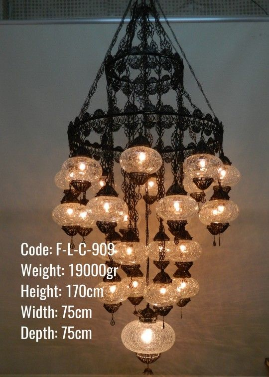 Turkish chandelier 25 globes ottoman lamps chandeliers turkish chandelier 25 globes aloadofball Image collections