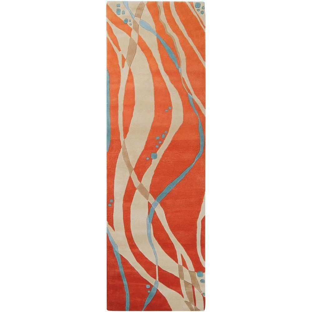 Herriman Tangerine Orange 2 Ft 6 In X 8 Ft Rug Runner Products