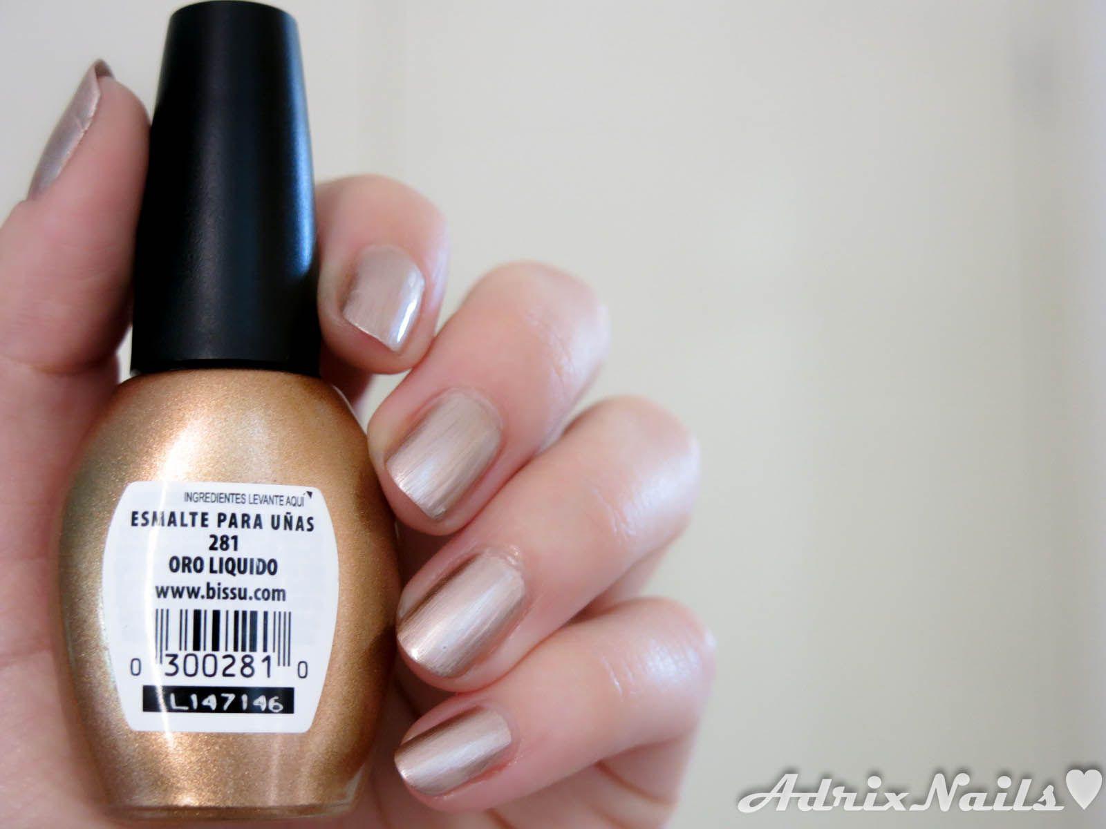 bissu oro liquido | Bissu nails | Pinterest