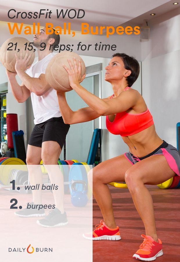 CrossFit WOD Wall Ball Burpees