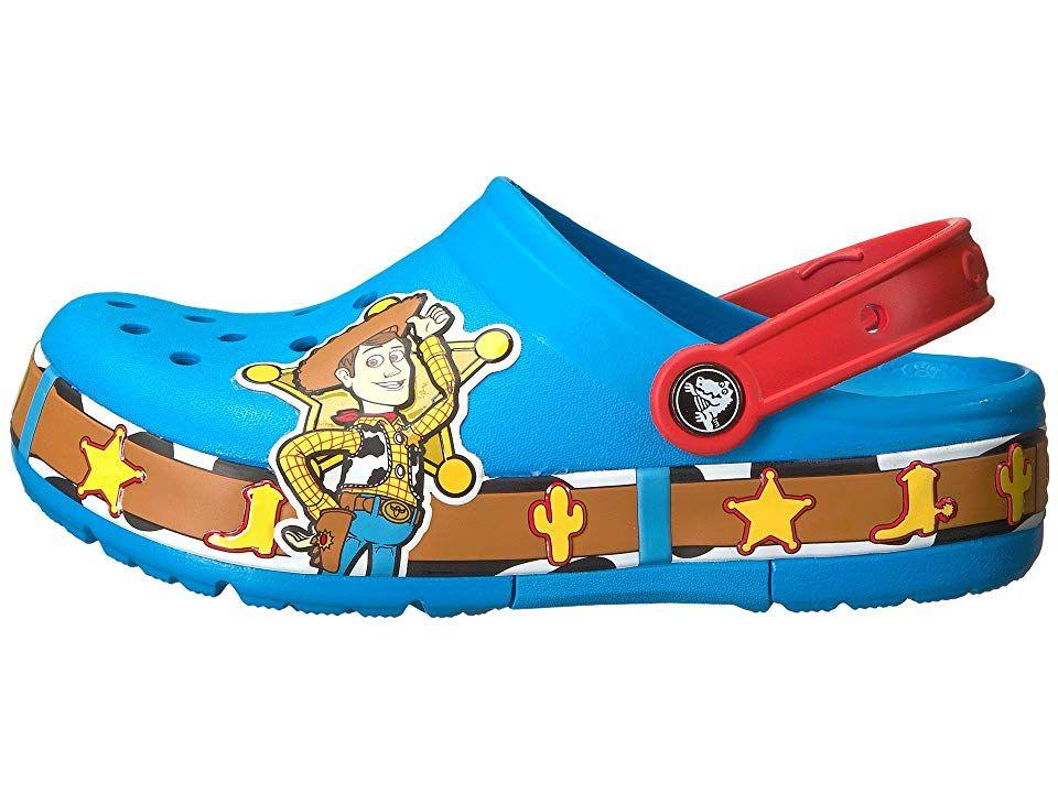 90abebf7ea99bd Crocs Kids Crocband Fun Lab Woody Lights Clog (Toddler Little Kid) Kids  Shoes Ocean