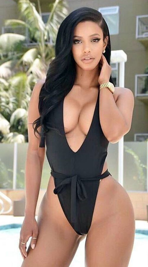 9c48188b73815 Super sexy black swimsuit  Summer