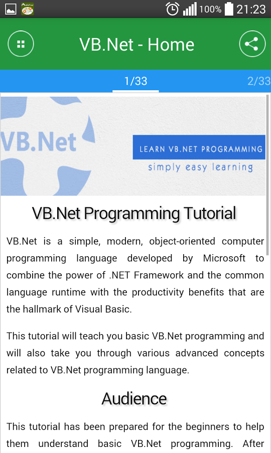Learn VB Net - Apps for mobile | Apps1pro com - Free apps