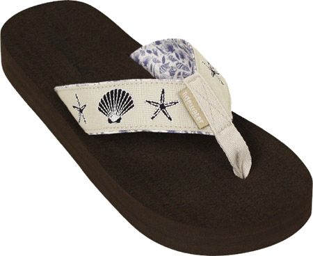 7173a7f5466e Tidewater Sandals Linen Shells - Natural Navy with FREE Shipping    Exchanges. Tidewater flip flops are the perfect combination of comfort and  fun.