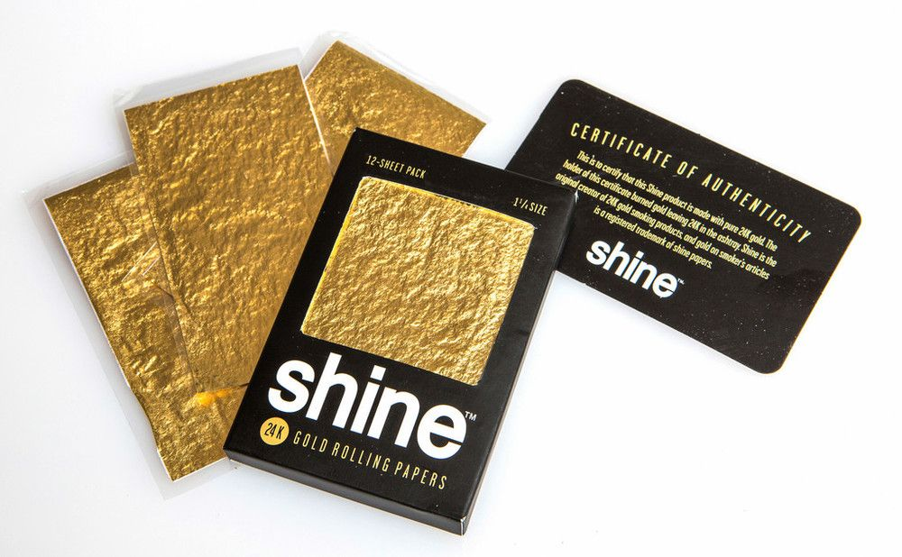 Shine 24k Gold Rolling Papers 12 Pack Gold Paper Rolling Paper Paper