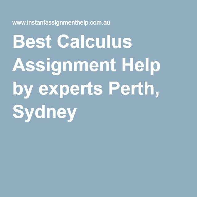 calculus assignment help