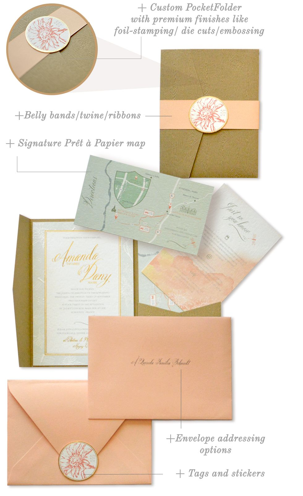 wedding stationery packages by pret a papier invitations and