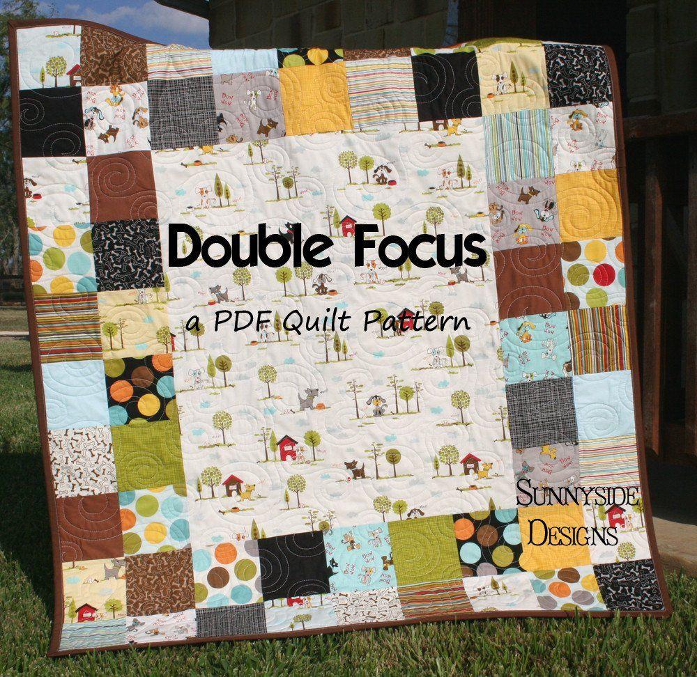 Double focus quilt pattern charm pack friendly charm pack double focus quilt pattern charm pack friendly jeuxipadfo Gallery