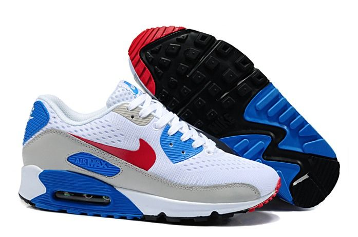 Now Buy Discount Nike Air Max 90 EM Womens White Blue Save Up From Outlet  Store at Footlocker.