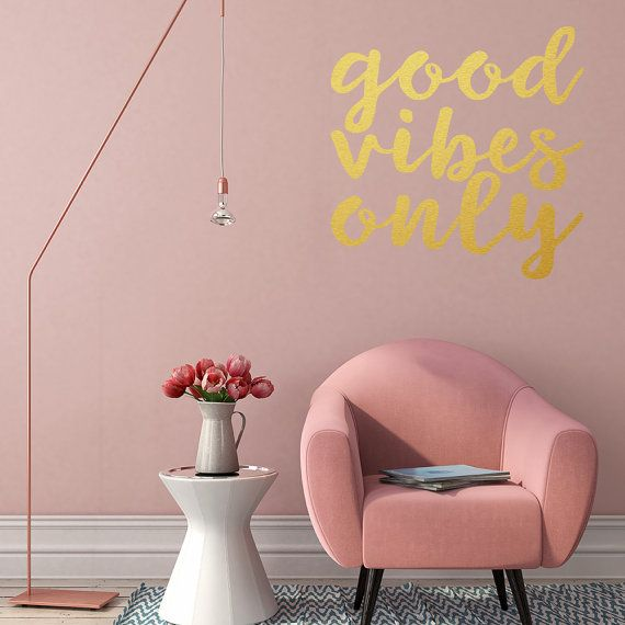 Wall Decal, Good vibes only, motivational quote, inspirational ...
