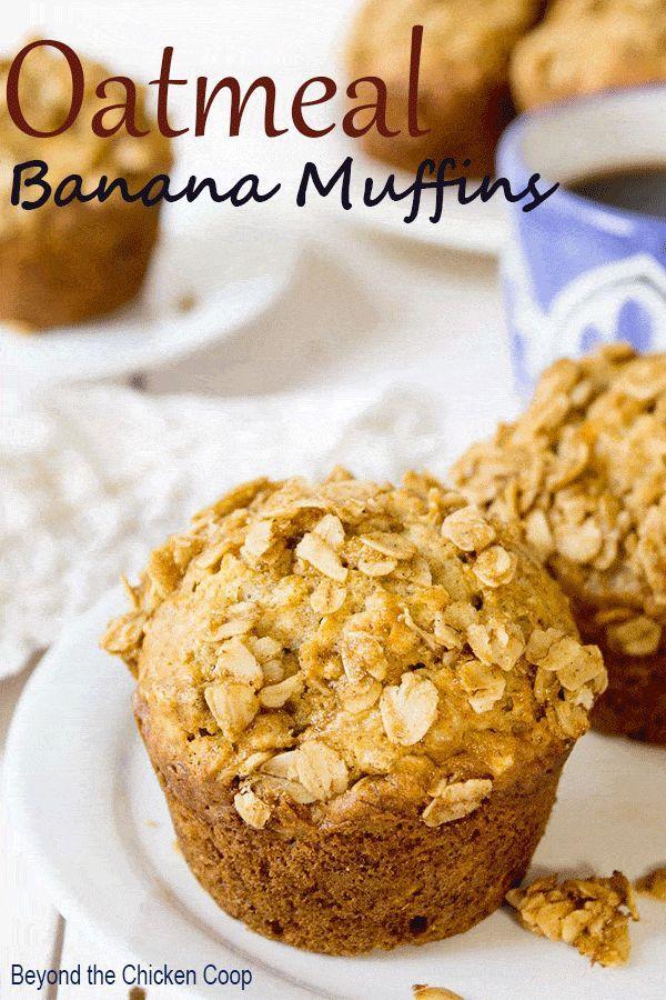 Oatmeal Banana Muffins Recipe Banana Oatmeal Muffins Banana Muffins Banana Recipes