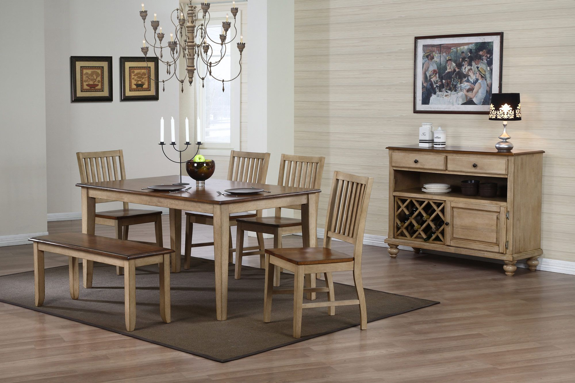 Brookcrest Rectangular Table Dining Room Set Sunset Trading Furniture Home Gallery Stores