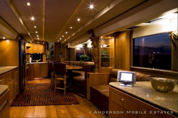 Check Out Ashton Kutcher S Tricked Out Trailer Camper Interior