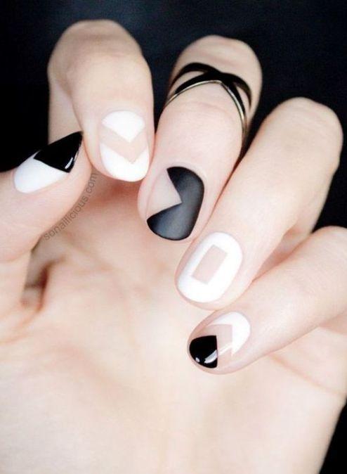 18 Chic Nail Designs for Short Nails - 18 Chic Nail Designs For Short Nails NAILS Pinterest Chic
