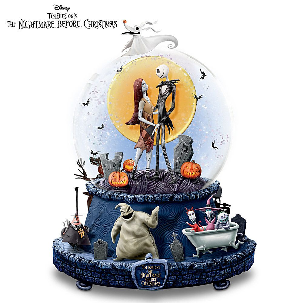 Nightmare Before Christmas Snowglobe With Lights and Music ...