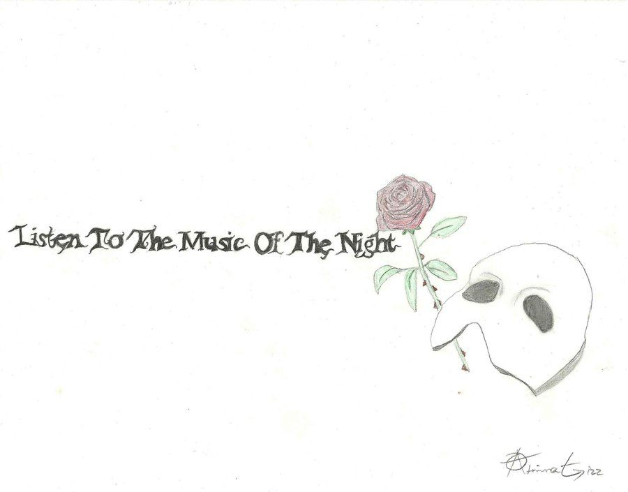 Phantom of the Opera- Boyfriend's tattoo concept by Atrina-Anarchy on DeviantArt