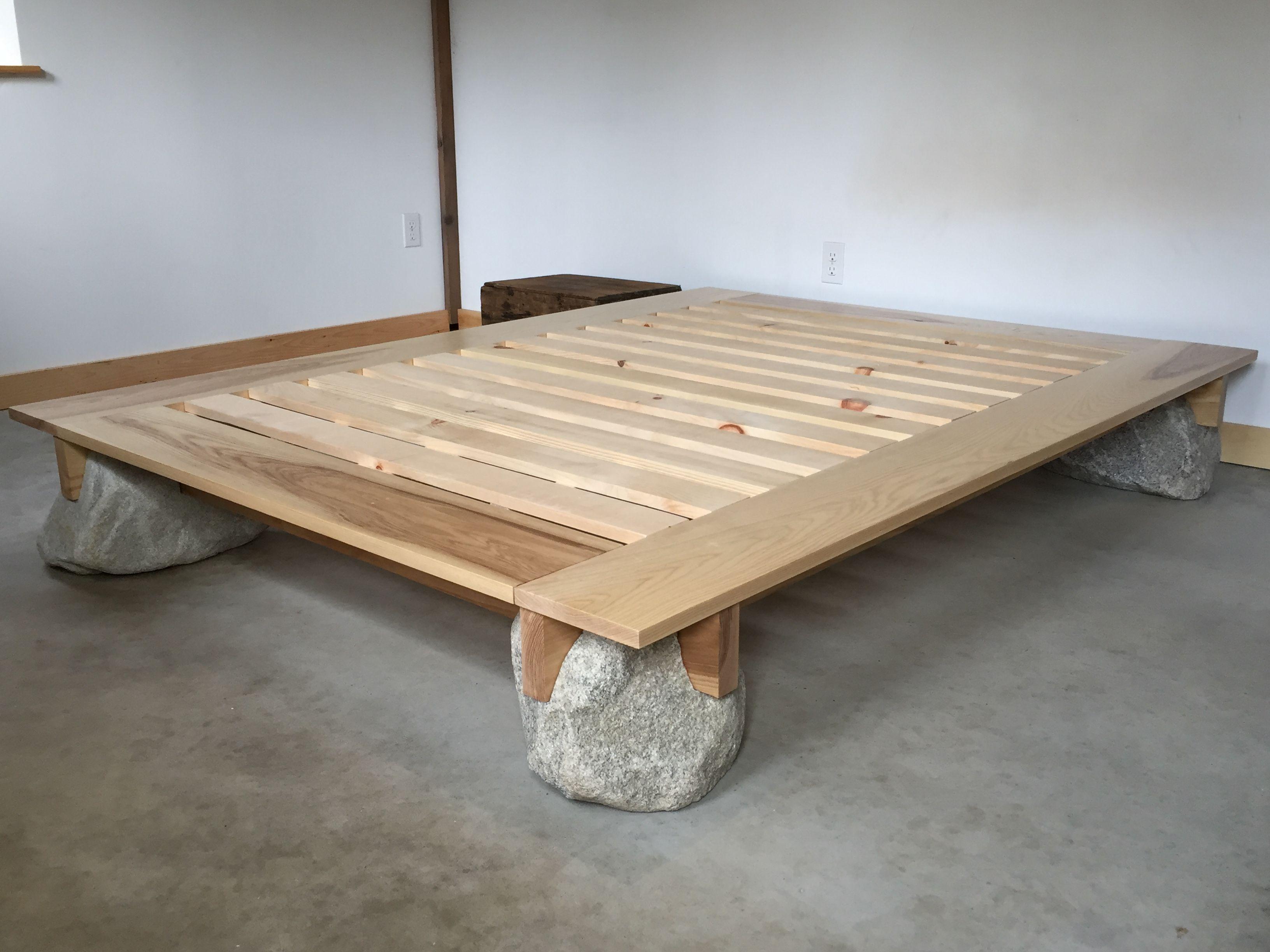 Maine Stonework Masonry Hardscaping Perennial Stone Japanese Platform Bed Stone Bed Frame Japanese Platform Bed Japanese Bed Frame