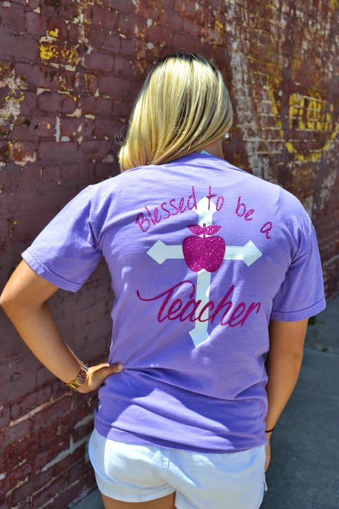Blessed to be a Teacher Comfort Color by embellishboutiquellc