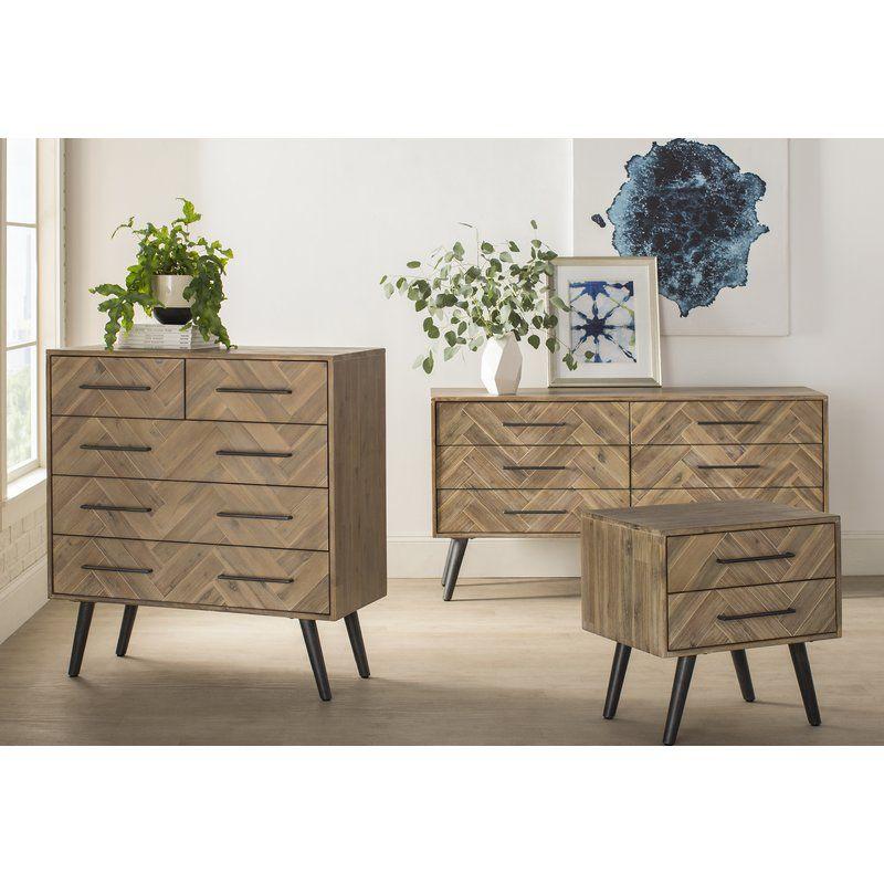 Best Jamari 6 Drawer Double Dresser Mid Century Modern 400 x 300