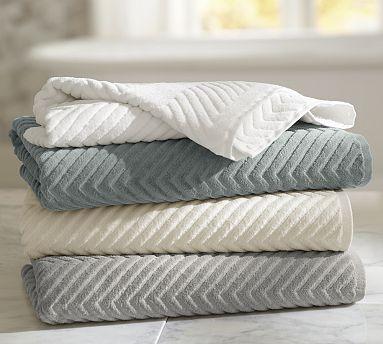 Chevron Sculpted Towels Bathroom Towels Primitive