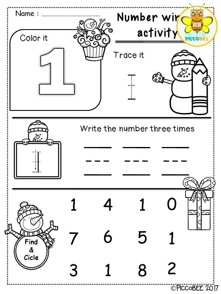 Number Winter Activity | Kindergarten, Winter activities and Math