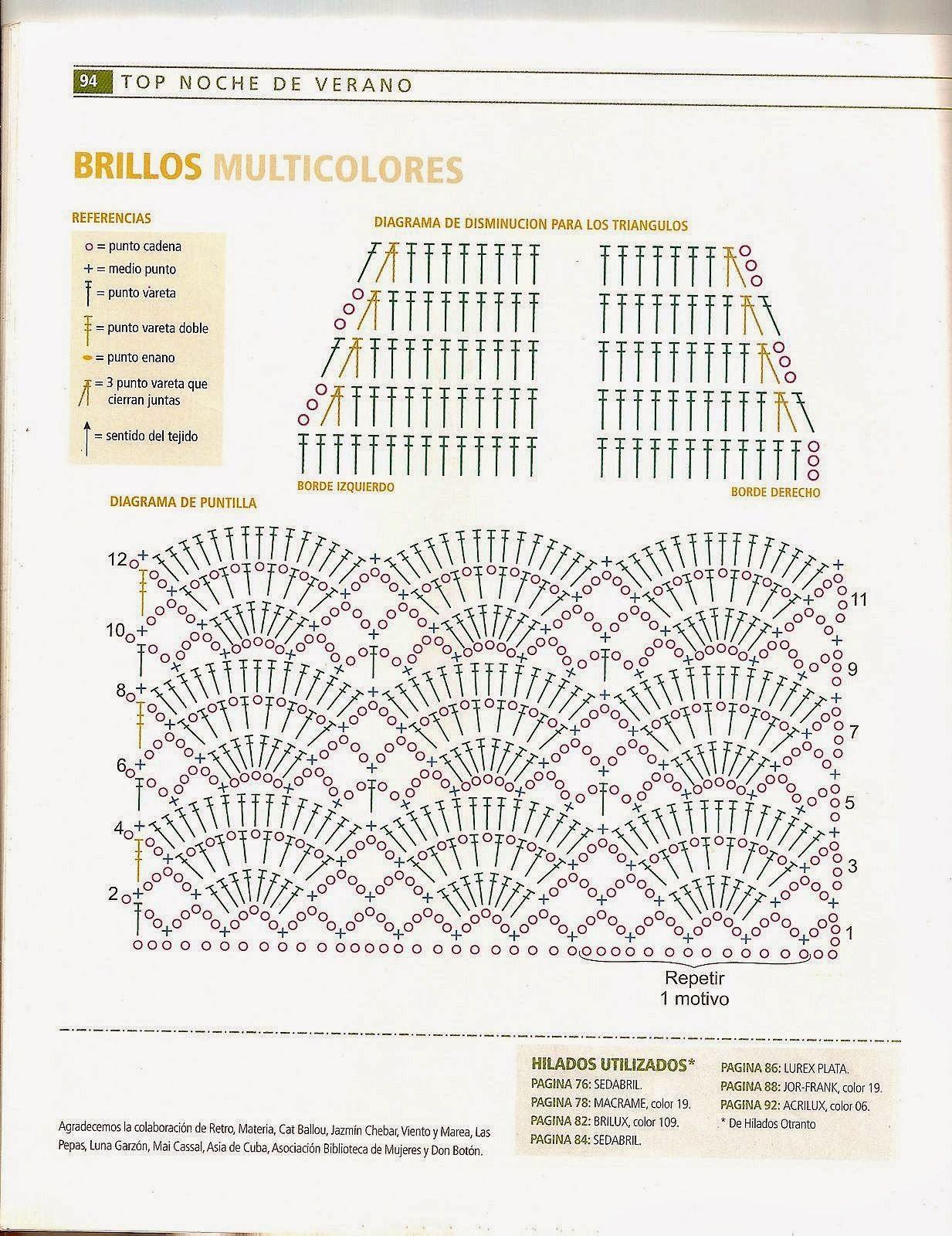 Top de Verano con Brillo Crochet Patron - Patrones Crochet | A ...