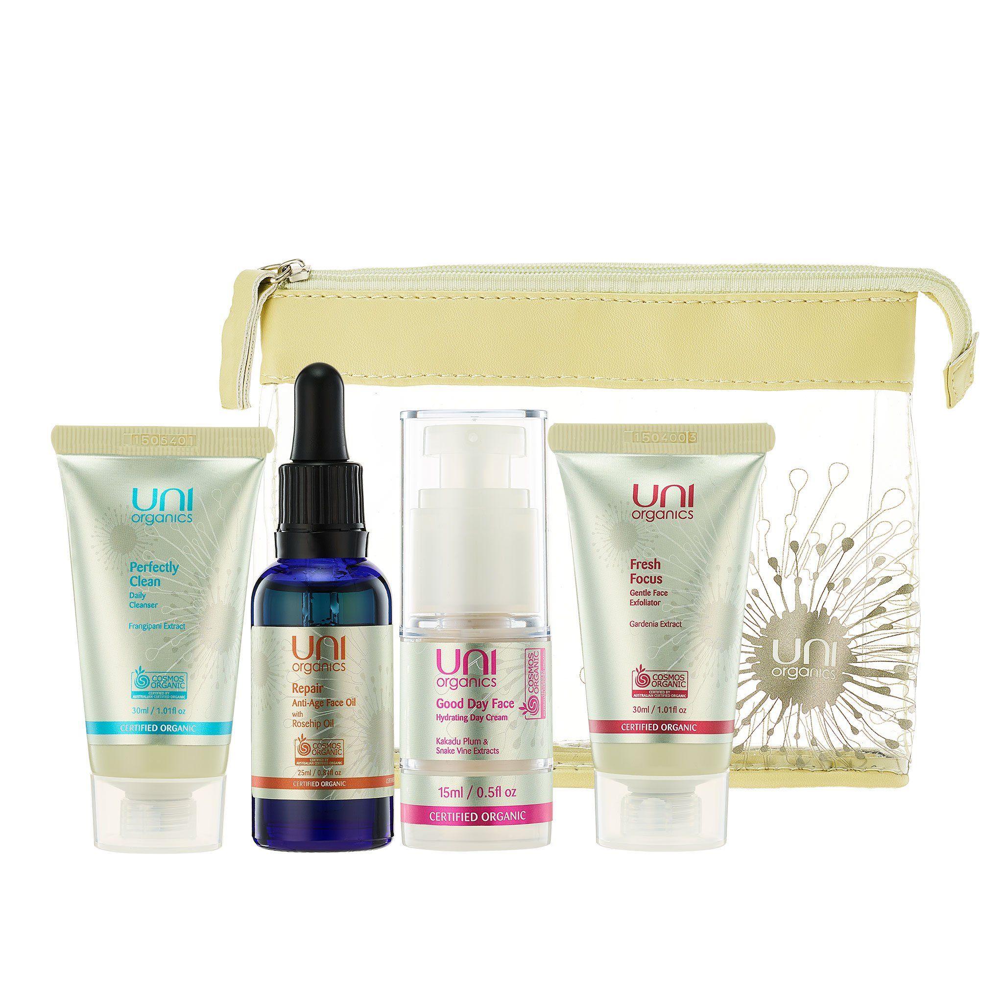 Certified Organic Skin Care Set – AntiAging Moisturizer