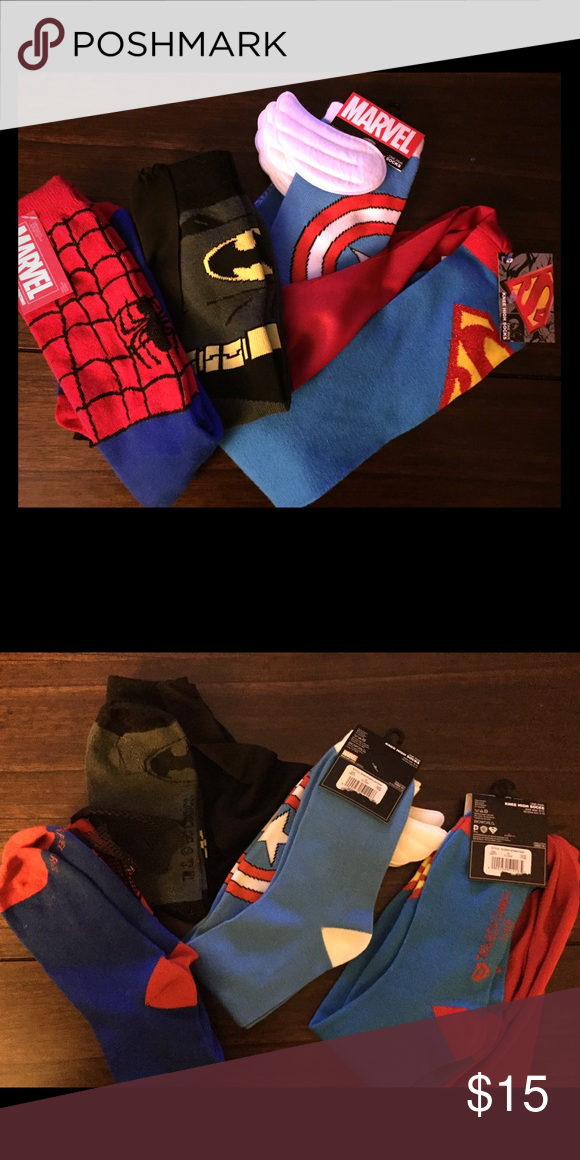 💥Marvel sock collection bundle!!!💥 Marvel socks (great for basketball players with a desire for a little style)!  NOT USED... Happy poshing fellow super ladies! Marvel Intimates & Sleepwear