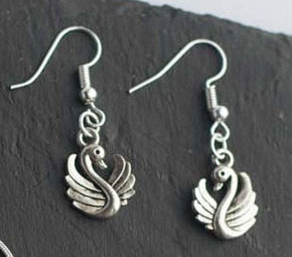 Swan Earrings - Once Upon A Time s8UML7sMZ