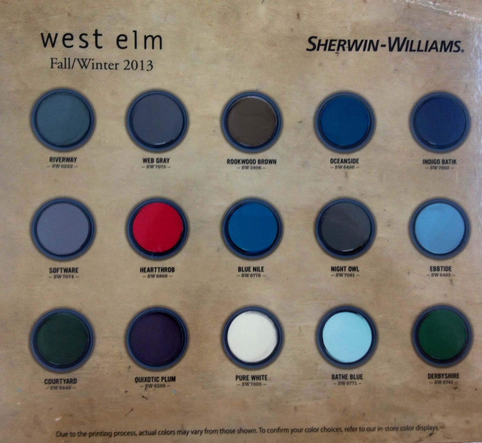 Pottery barn paint colors 2013 - Sherwin Williams West Elm Paint Colors Fall Winter 2013