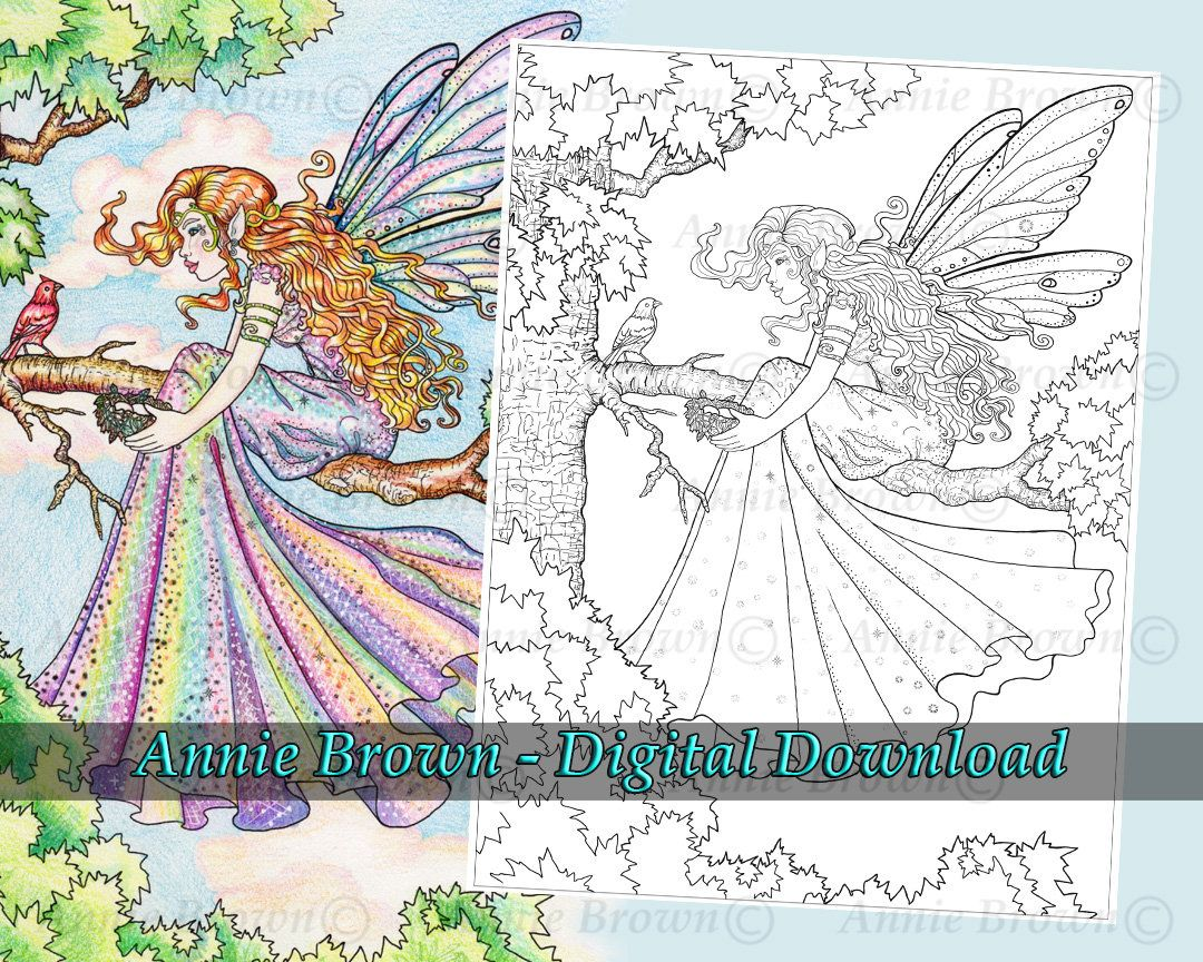 Fairies Coloring Page Fantasy Art Printable Download Line Etsy Fairy Coloring Pages Fairy Coloring Fairy Coloring Book [ 864 x 1080 Pixel ]