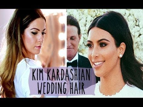 Kim Kardashian Wedding Hair Tutorial Hollie Wakeham Kim Kardashian Wedding Kim Kardashian Hair Kardashian Wedding