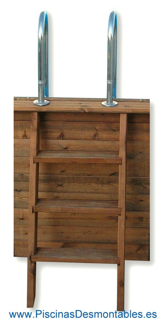 escalera para piscinas de madera esta robusta escalera est construida de madera en la