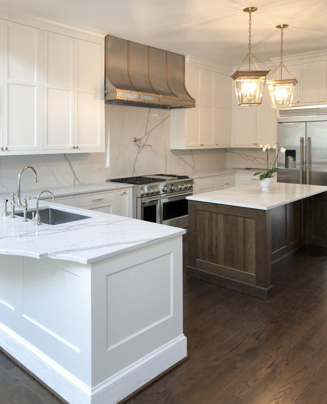 Love the stainless steel appliances and white