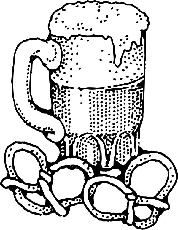 Beer And Pretzels Coloring Pages Best Place To Color Coloring Pages Coloring Books Online Coloring