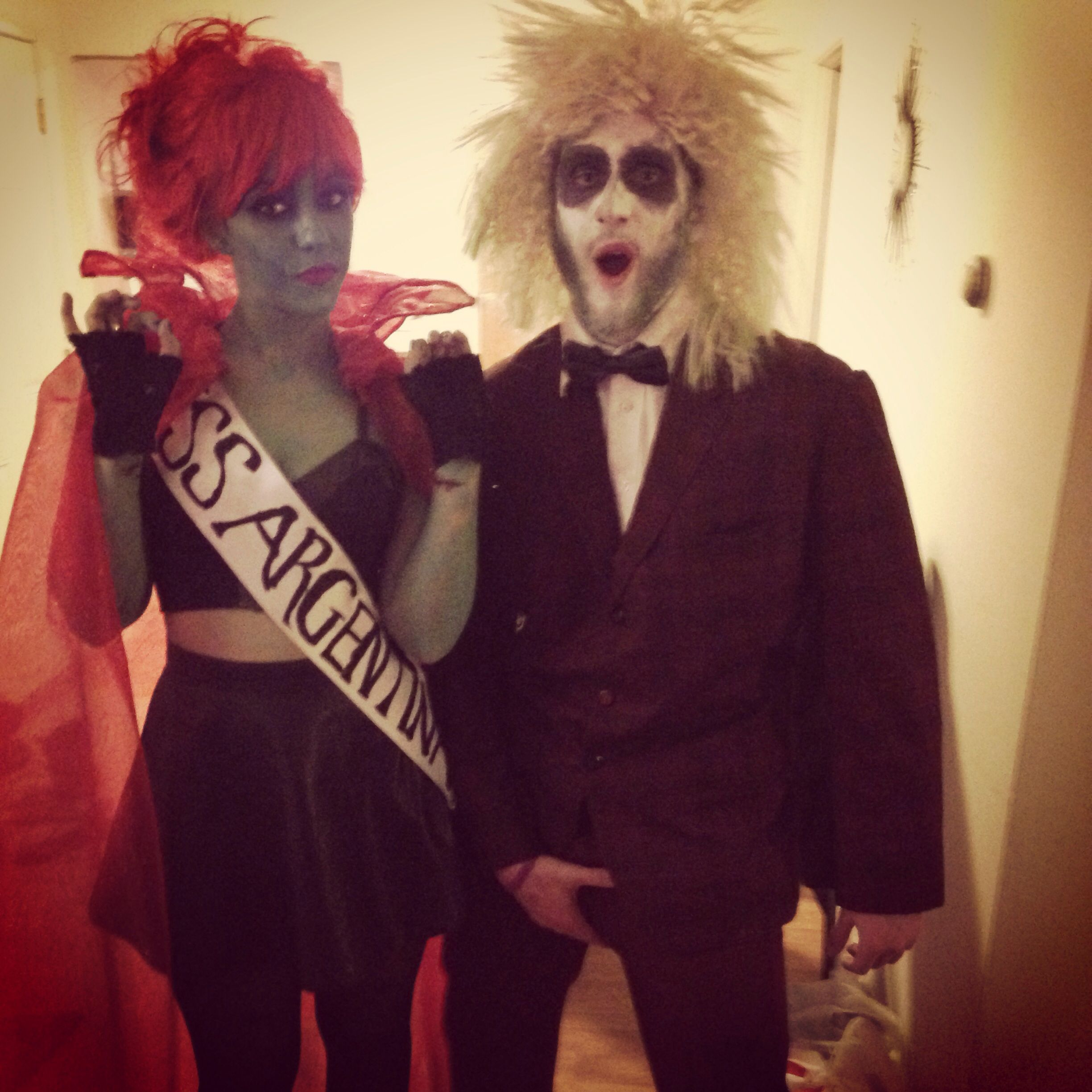 Beetlejuice and miss Argentina Halloween costume DIY BEST COSTUME EVER & Beetlejuice and miss Argentina Halloween costume DIY BEST COSTUME ...