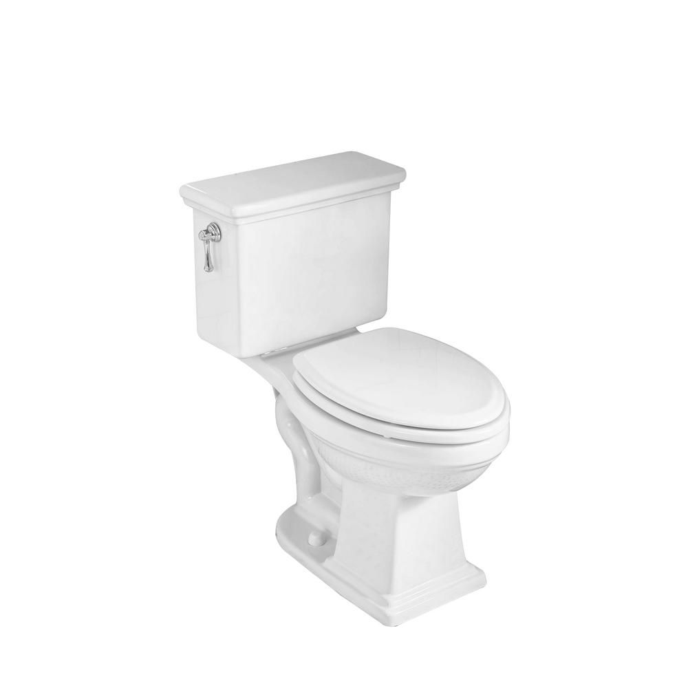 American Standard Lexington Tall Height 2 Piece 1 28 Gpf Single Flush Elongated Toilet In White With Slow Close Seat Toilet Vintage Bathrooms Two Piece Toilets